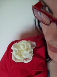 Fabric Flower Broach Detail